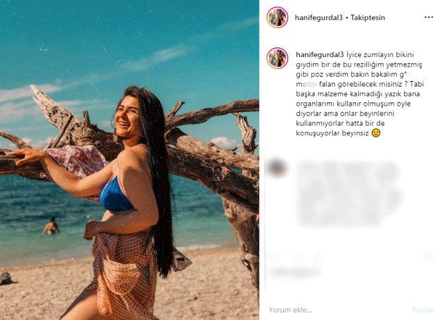 Hanife Gürdal'dan bikinili poz