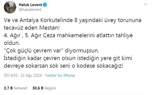 Haluk Levent, çocuk istismarı yapan kişinin serbest kalmasına öfke kustu