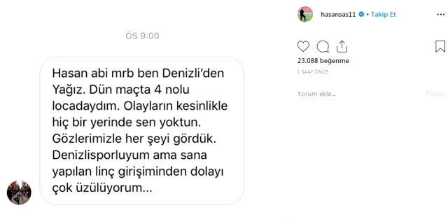 Hasan Şaş'n istifa etmeden önceki son paylaşımı dikkat çekti