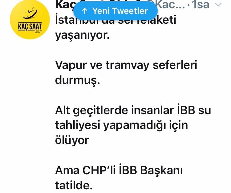 İstanbul'u sel aldı! Ekrem İmamoğlu nerede?