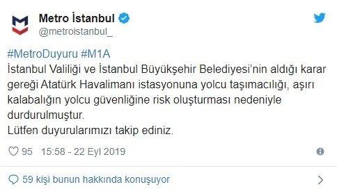 Dikkat! İstanbul Valiliği ve İBB kararı ile seferler durduruldu!