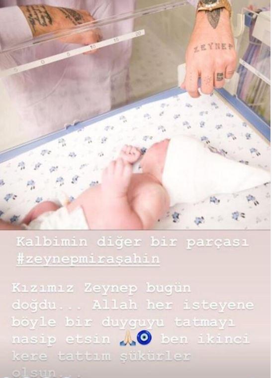 Berkay Şahin yeni doğan kızının resmini paylaştı