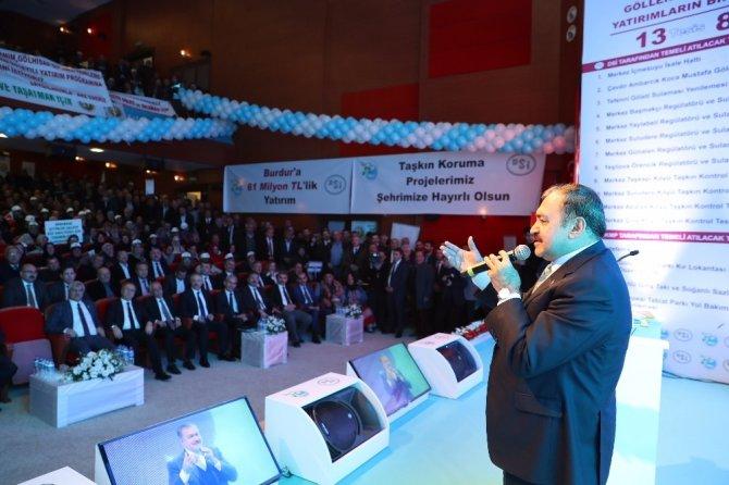Burdur'da 81 milyonluk 13 tesisin temeli atıldı