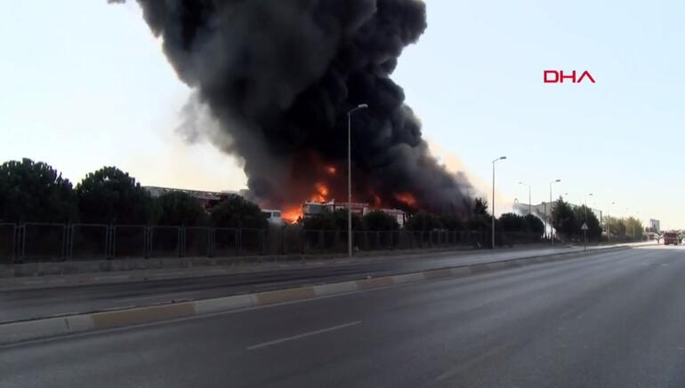 Tuzla'da yangın son dakika! Organize Sanayi Bölgesi cayır cayır yanıyor...