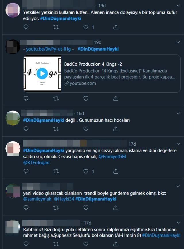 Rapçi Hayki'nin attığı twite tepkiler çığ gibi büyüyor