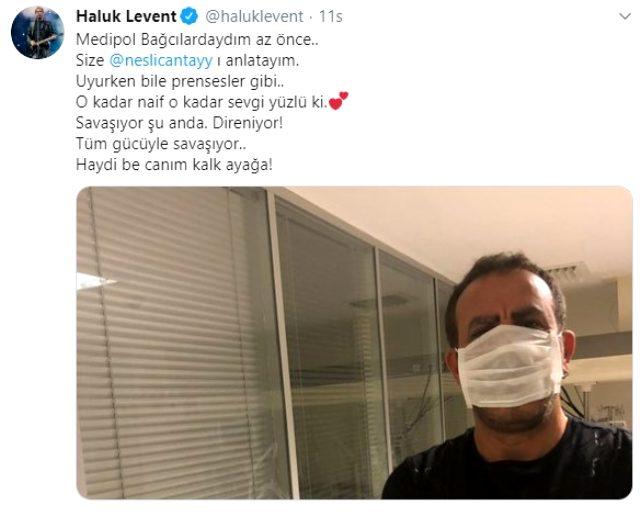Haluk Levent, yoğun bakımda yatan Neslican Tay'ı ziyaret etti
