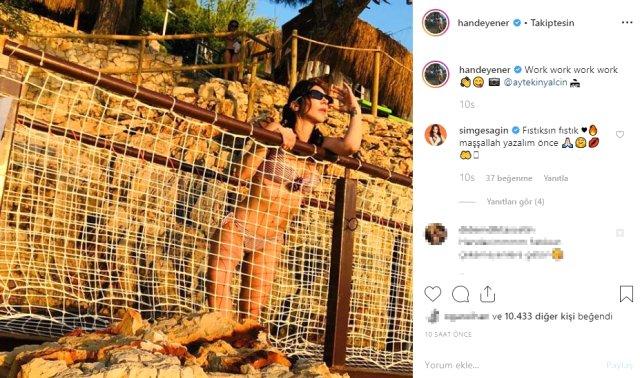 Hande Yener'in bikinili fotoğrafı yürek hoplattı