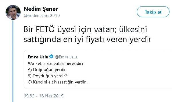 Nedim Şener'den kaçak FETÖ'cülere tokat gibi cevap!