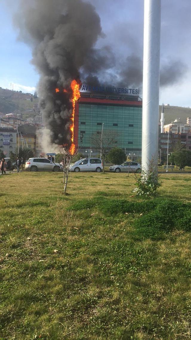 Trabzon'da hangi üniversitede yangın çıktı? Üniversitede yangın neden çıktı?