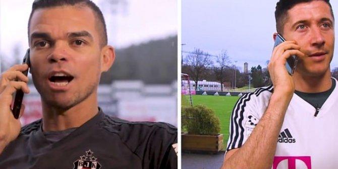 Negredo ve Pepe Lewandowski'yi aradı bakın ne konuştular!