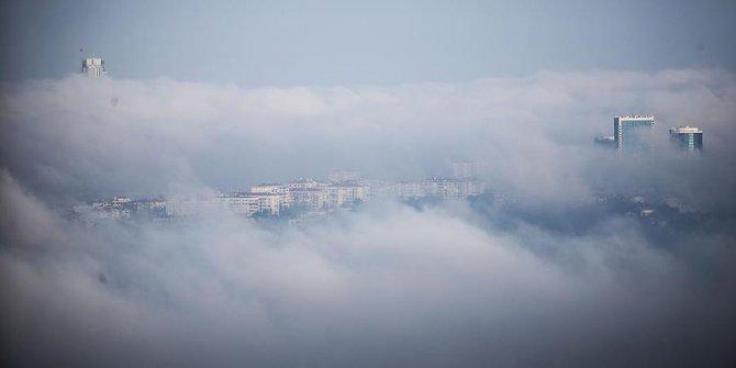 Gaziantep'de uçak seferleri yoğun sis nedeniyle iptal edildi