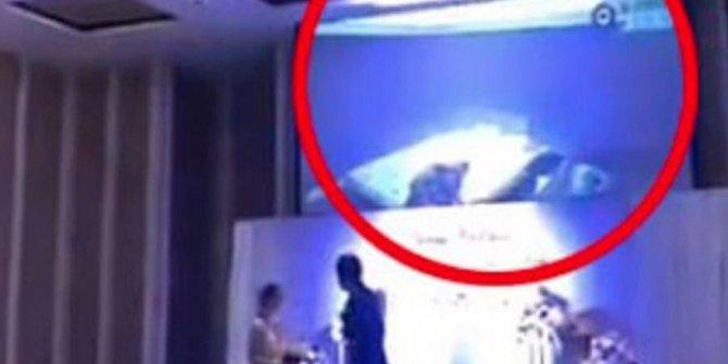 Gelinin damadı aldatma videosu davetlilere izlettirildi!
