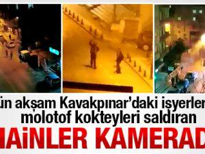 Pendik Kavakpınar'da İşyerlerine Molotofla Saldıran Hainler Kamerada