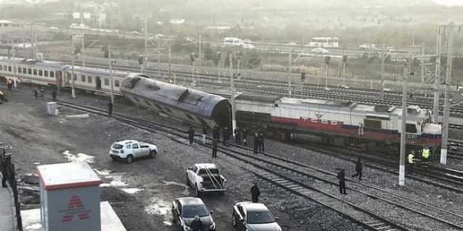Ankara'da korkutan tren kazası!