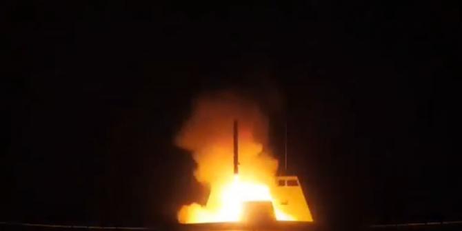 Fransa, Suriye'ye fırlatılan füzelerin görüntülerini yayınladı!