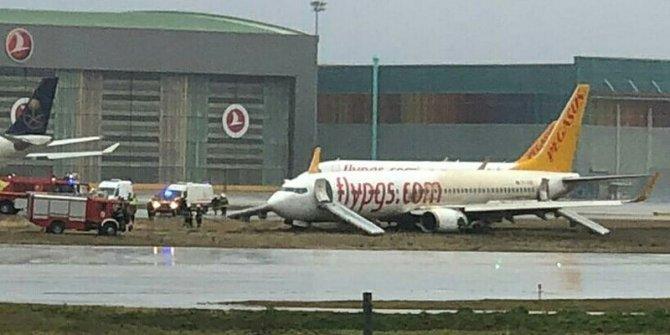 İstanbul Sabiha Gökçen Havalimanı'nda uçak pistten çıktı!