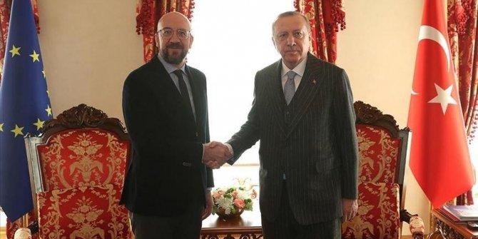 Erdoğan'dan Michel'e sert cevap: ''Bu anlaşmanın neresi hukuka aykırı?''