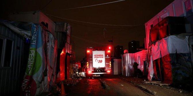 Konteynırda yangın çıktı! 1 işçi yanarak öldü