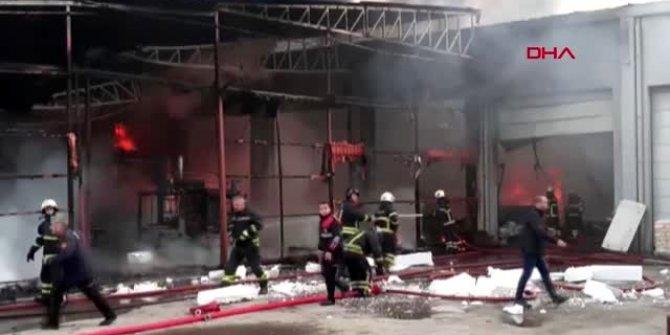 Samsun'da plastik fabrikasında korkutan yangın!
