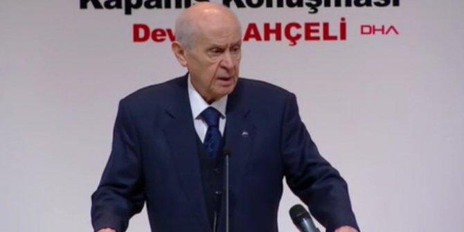 MHP Genel Başkanı Devlet Bahçeli: ''Cumhur ittifakına sahip çıkacağız''