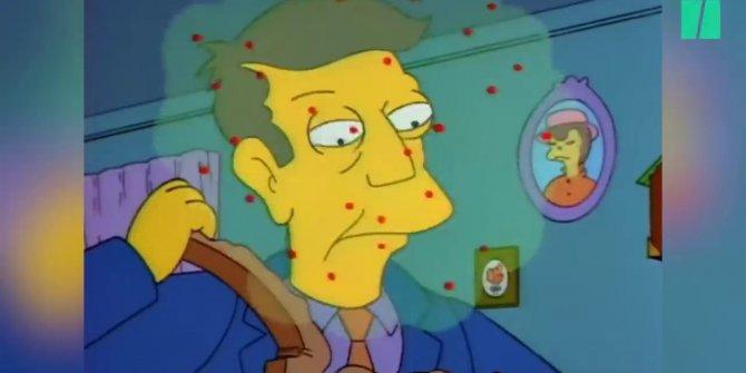 Simpsons dizisi geleceği yine tahmin etti! Korkutan virüsün bölümünü çekmiş