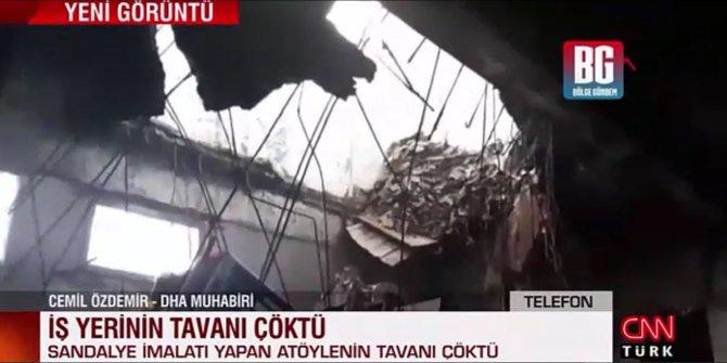 Sultangazi'de iş yerinin tavanı çöktü! 1 yaralı var