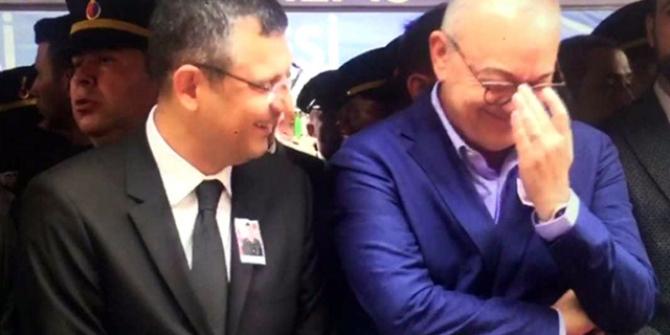 CHP'li Özgür Özel'in şehit cenazesinde güldüğü anlar
