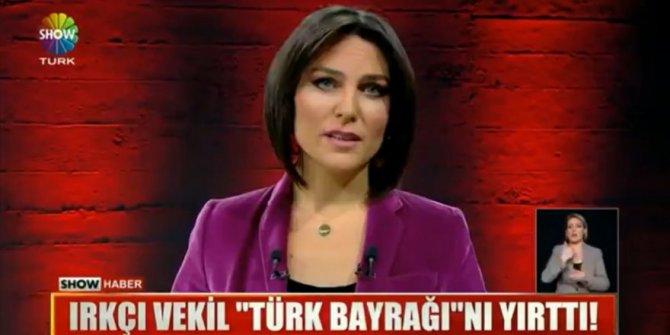 Ece Üner'den Türk bayrağı yırtan Yunan vekile sert çıkış!