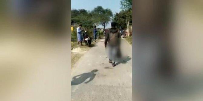 Cani kocadan korkunç görüntü! Eşinin kesik başıyla sokakta gezdi