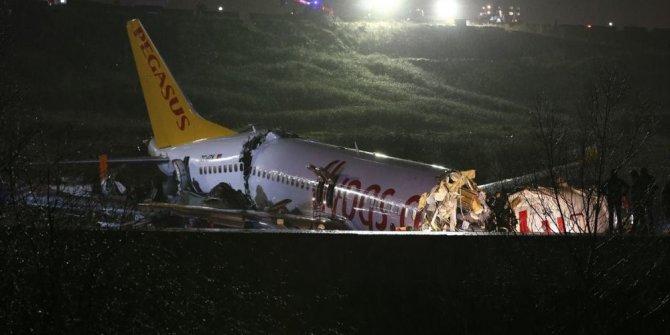 Sabiha Gökçen'de pistten çıkan uçaktaki yaralı yolculardan ilk görüntüler!