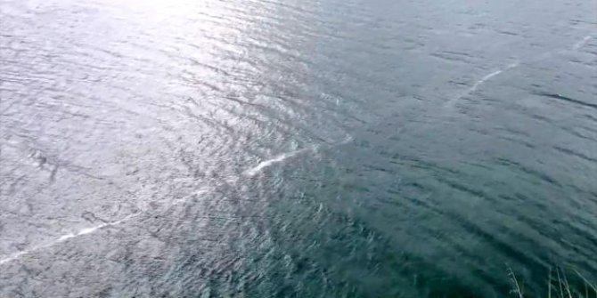 Elazığ depreminden sonra Karakaya Baraj Gölü'nde çizgi oluştu!