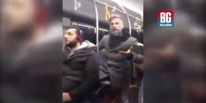 Otobüsteki öpüşme kavgası gerginlik yarattı!