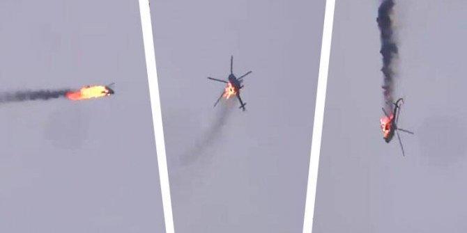 İdlib'de Esad rejimine bağlı bir helikopter vuruldu!