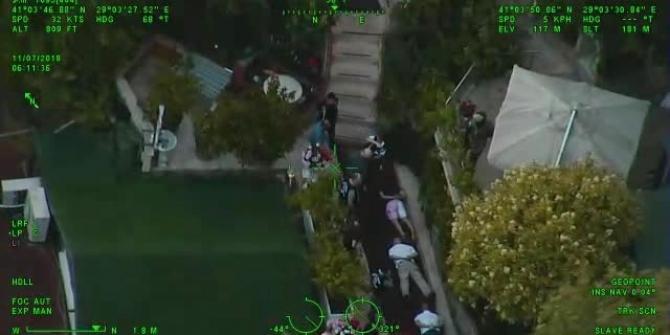 Adnan Oktar'ın villasına düzenlenen operasyonun havadan görüntüleri