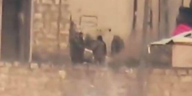 Suriye Milli Ordusu'nun Esad askerlerini havaya uçurma anı!