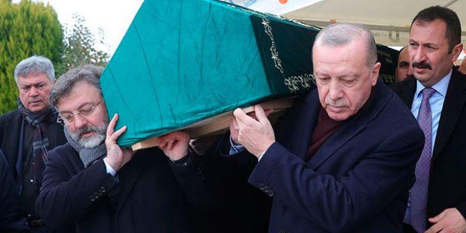 Cumhurbaşkanı Erdoğan Alaaddin Şahin'i son yolculuğuna uğurladı