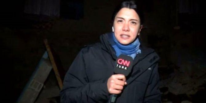 CNN Türk muhabirinin canlı yayını sırasında deprem oldu!