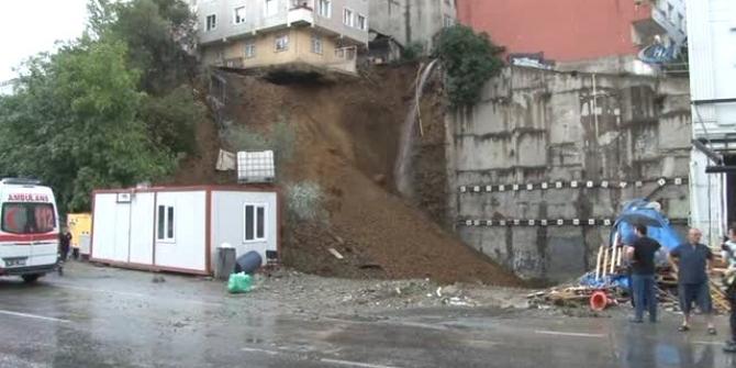 Beyoğlu'nda toprak kayması tehlikesi!