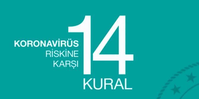Koronavirüs'ten korunmak için uyulması gereken 14 kural!