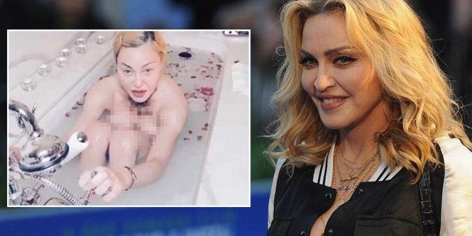Madonna'nın küvetteki çıplak pozuyla eşitliği savunması medyada tepki çekti!