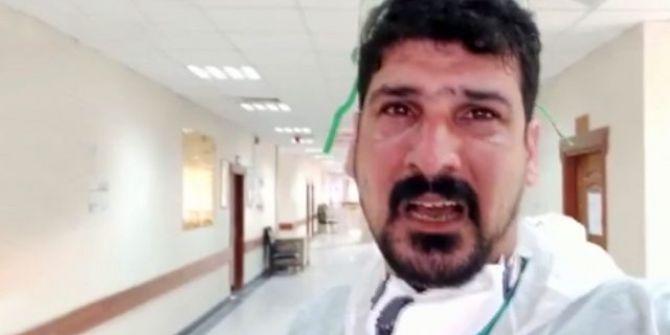 Iraklı doktorun ''evde kalın'' çağrısı herkesi duygulandırdı