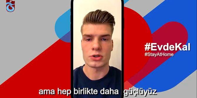 Trabzonsporlu futbolculardan duygulandıran 'evde kal, güvende kal' mesajı!