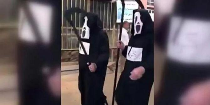 İran'da karantinaya uymayanlar sokaklarda Azrail'le karşılaştı!