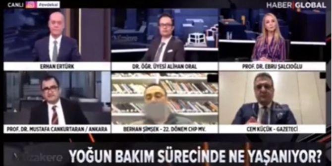 Haber Global ekranlarında skandal! Berhan Şimşek canlı yayında sigara yaktı