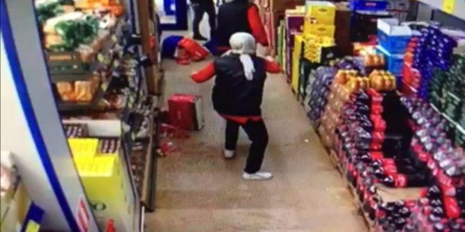 Markete maskesiz girdi! Çalışanlar tarafından uyarılınca kavga çıktı
