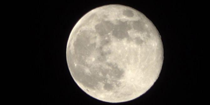 ''Süper Ay'' Adıyaman'dan böyle görüntülendi