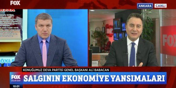 Ali Babacan, FOX TV'de koronavirüse karşı alınabilecek önlemlerden bahsetti