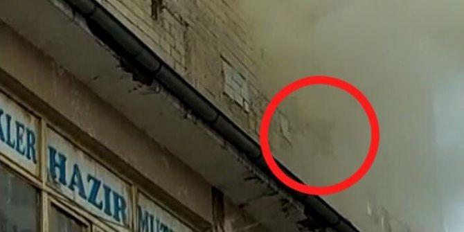 Apartmanda çıkan yangında evde mahsur kalan hamile kadın 5. kattan atladı!