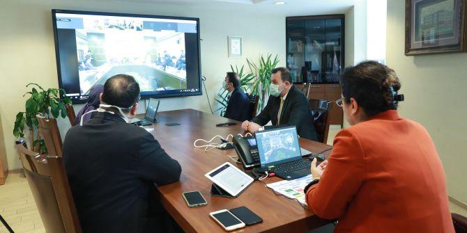 Sağlık Bakanlığı yetkilileri video konferans yoluyla Çinli yetkililerle görüştü