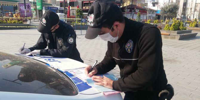 Sokağa çıkma yasağının ilk gününde cezalar yazılmaya başlandı